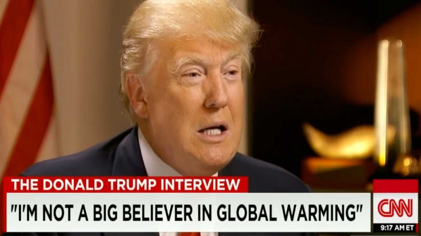 Donald, Accept Climate Change is Happening