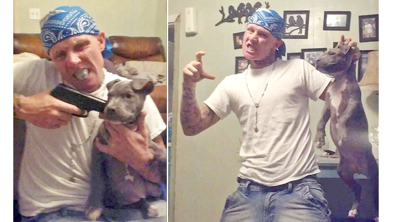 Punish coward that abused his dog and took photos!